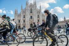 Les uit Milaan: niet meer fietsen, maar meer kusjes